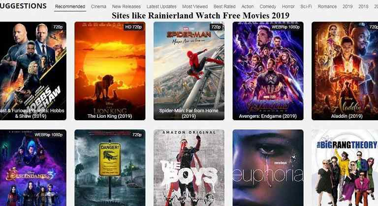 Rainiertamayo: Alternative Sites like Rainierland Watch Movies Online 2019
