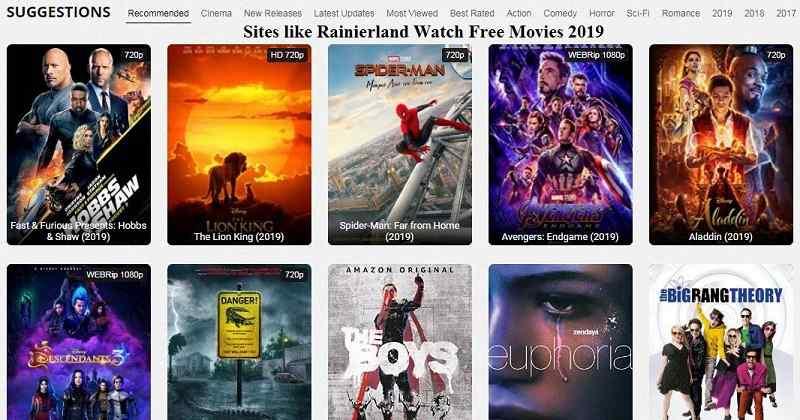 Sites like Rainierland alternative Sites like Rainiertamayo Watch Free Movies 2019