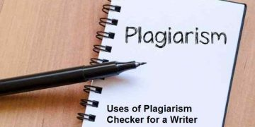 Plagiarism Checker for a Writer