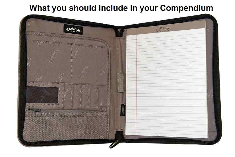 What you should include in your Compendium