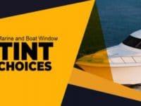 Boat window tint